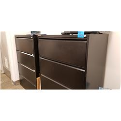 2 - 4 Drawer lateral file cabinets with new files