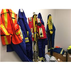 Safety- Approx 8 Bxs Safety Gear: Pioneer Vests/ New Coveralls/ Hardhats W/ Liners/ Tow Ropes/ Safet