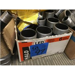 Approx.17 trays/boxes of metal pipe & cast pipe fitting, various sizes