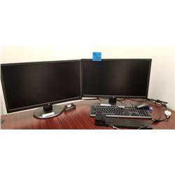 2 - HP Monitors 24UH, dock, keyboard, mouse
