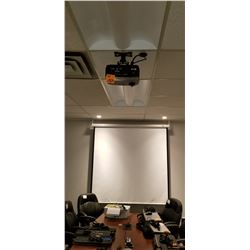 Infocus projector, HDMI texas intrument Projector, w/ projector screen/including logitech tele-confe