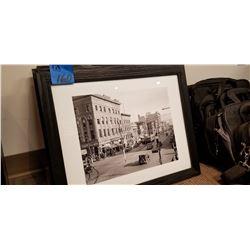 4 Black framed prints of Edmonton