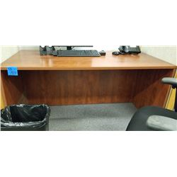 1-Cherrywood Finish Work Table on wheels Plus Solid Desk