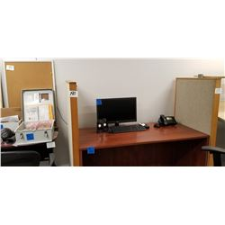 5-Office Desk Dividers/ 2 Cork Boards + 1 Black File Cabinet.
