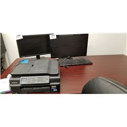 2 Monitors 1-ACER LED Technology - 1 View Sonic PLUS 3 Keyboards 1-HP Keyboard + 1-Microsoft KeyBoar