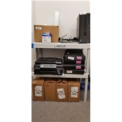 1- White double Rack w/ Hole Punches, Dividers,Purolator Express Bags + Packaging sleeves plus 5 CS