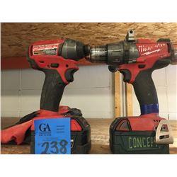 2 Ridgid Impact Driver + Hammer Drill