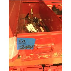 1- Red tool box w/ manifold PSV Plus Puller Valve #CF8M2000WOG