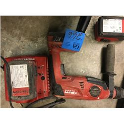 1- HILTI TE2 -A18 Hammer Drill W/Charger, W/Bag