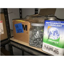1- 4-Rows of Misc Silicon Tubes/Guns/Foam Sealant/ Washers/ Asst'd Screws/ Warning Tape/Tapes/ Conne