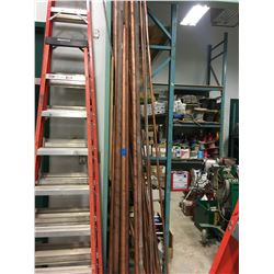 Large Volume of copper pipe - 100's ft Various Lengths + Widths