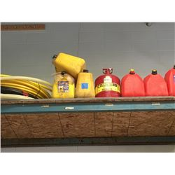 "Top Shelf, A118 GAS Cans, 3/4"" Fuel hose Yellow, 1"" Black 3/4"" Pex water line."