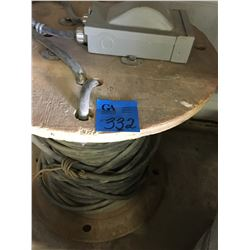 50ft  - 4wire on spool w/ junction box, 3 assort H.d Jobsite Ext Cords