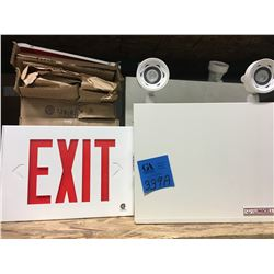 8 Backlit Exit Signs & 3 Lumacell Emergency Lights, Self Powered