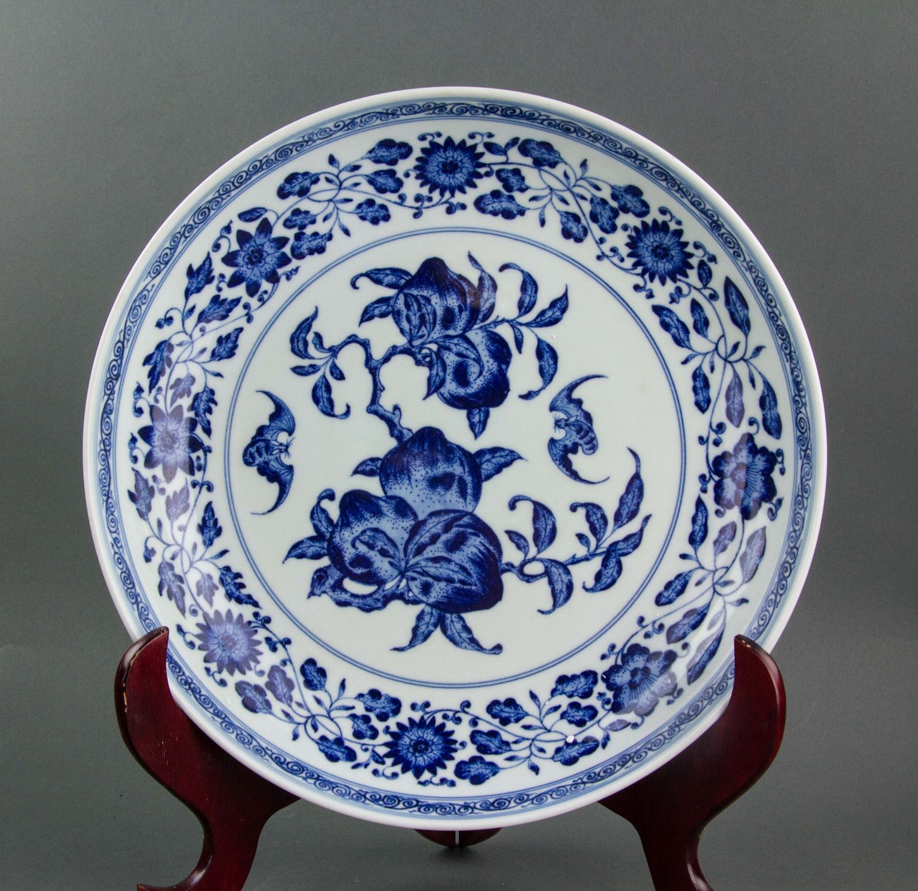 Chinese Blue and White Porcelain Saucer Yongzheng