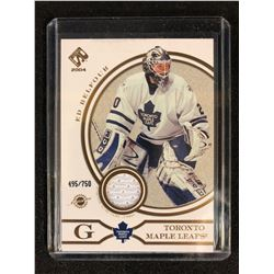2004 PRIVATE STOCK GAME WORN JERSEY ED BELFOUR (495/750)
