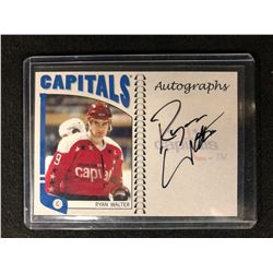 2004-05 ITG FRANCHISES SERIES RYAN WALTER AUTOGRAPHED HOCKEY CARD