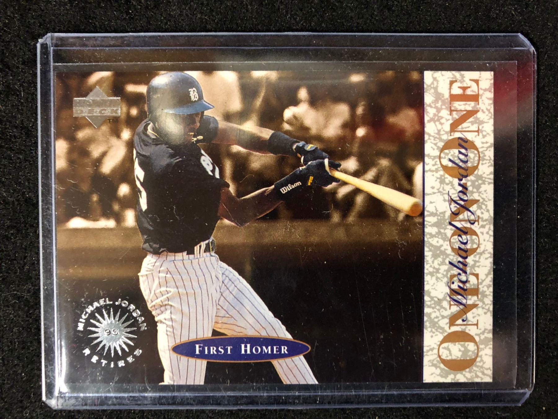 Upper Deck First Homer One On One Michael Jordan Baseball Card