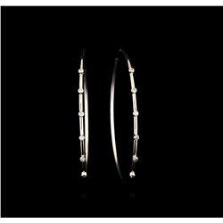 18KT White Gold 1.19 ctw Diamond Earrings