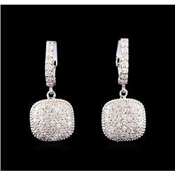14KT White Gold 1.38 ctw Diamond Earrings