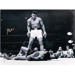Muhammad Ali Standing Over Joe Frazier II - Black and White Print