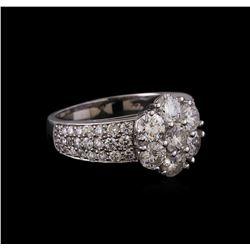 14KT White Gold 2.55 ctw Diamond Ring