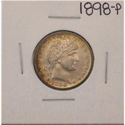 1898 Barber Quarter Coin