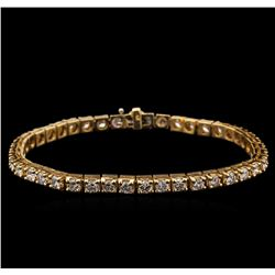 6.05 ctw Diamond Bracelet - 14KT Yellow Gold