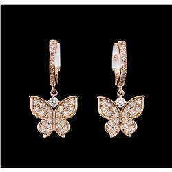 0.73 ctw Diamond Earrings - 14KT Rose Gold