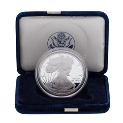 2008-W $1 American Silver Eagle 1 oz Fine Silver Bullion Proof Coin w/Box