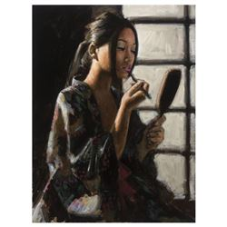 Geisha with Mirror by Perez, Fabian