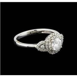 14KT White Gold 0.82 ctw Diamond Ring