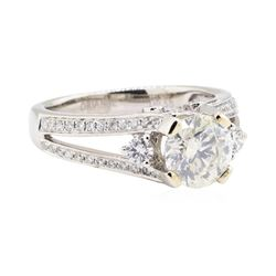 2.17 ctw Diamond Ring - 14KT White Gold