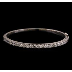 14KT White Gold 3.16 ctw Diamond Bangle Bracelet