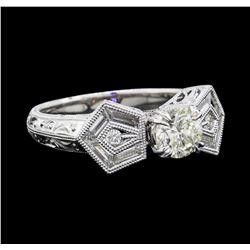 1.37 ctw Diamond Ring - 18KT White Gold