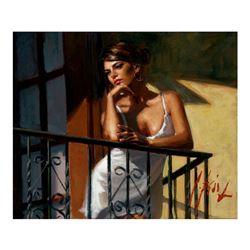Saba at the Balcony VIII - White Dress by Perez, Fabian