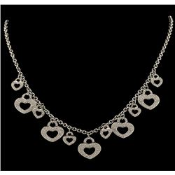 2.00 ctw Diamond Necklace - 18KT White Gold