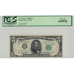 1950B PCGS CN 63PPQ $5 Federal Reserve Note