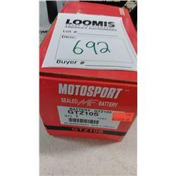 NEW MOTORCYCLE BATTERIES  BUNDLE LOT  / 692,689