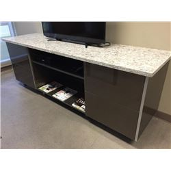 Granite Top TV Stand with drawers