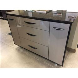 5 drawer, 2 door cabinet with floform granite top