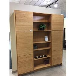 Display D3 - NEW Summit Horizontal Bamboo Wall Unit with drawers and doors, storage unit includes al