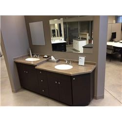 Display V1 - NEW Bathroom Vanity Display Soho Thermofoil with CorianCounter top.Includes all cabinet