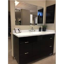 NEW Bathroom Vanity Display Cabinet set.Includes all cabinets, molding, counter tops, plumbing fixtu