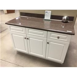 Display V4 - New Bathroom Vanity Cabinet Set Manchester Thermofoilwith cultured granite top.Includes