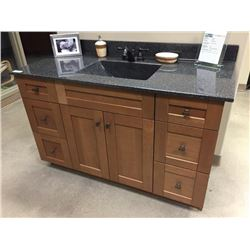 Display V5 - NEW Bathroom Vanity Cabinet Set, Cherry wood doors with cultured granite counter top.In