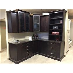 Display D14 - NEW Kitchen/Bar Cabinet Display Plymouth Maple Espresso with Granite Counter Top, 19 d