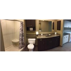 Display S9 - Complete Bathroom Display includes all cabinetry, granite counter tops, sink, fixtures,