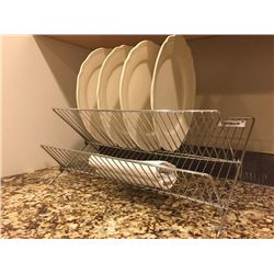 Lot of Decor - Dishrack, Vase, Book Holder