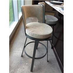 NEW Upholstered Beige  Metal Bar Stool